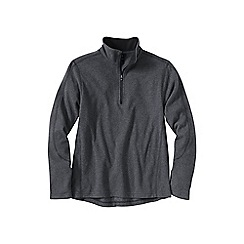 Lands' End - Grey men's regular thermacheck-100 fleece half-zip pullover