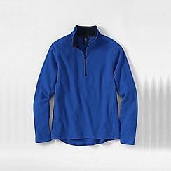 Lands' End - Blue men's regular thermacheck-100 fleece half-zip pullover