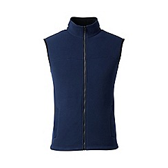 Lands' End - Blue regular thermacheck 200 fleece gilet