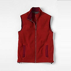 Lands' End - Red men's regular thermacheck 200 fleece gilet