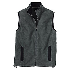 Lands' End - Grey men's regular thermacheck 200 fleece gilet