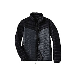 Lands' End - Black men's colourblock lightweight down jacket