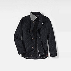 Lands' End - Black men's primaloft quilted jacket