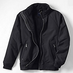 Lands' End - Black men's tall classic squall jacket