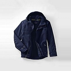 Lands' End - Blue tall  hooded squall jacket