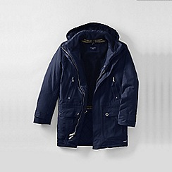 Lands' End - Blue men's tall classic squall parka