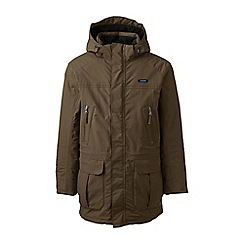 Lands' End - Brown tall waterproof squall parka coat