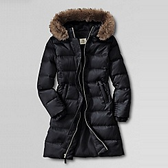 Lands' End - Black little girls' fashion down coat