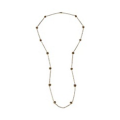 Lands' End - Gold extra long love knot necklace