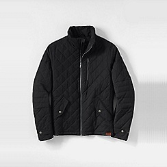Lands' End - Black men's primaloft quilted moto jacket
