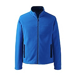 Lands' End - Blue tall thermacheck 200 fleece jacket