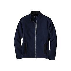 Lands' End - Blue men's tall thermacheck 200 fleece jacket