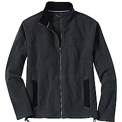Lands' End - Grey men's tall thermacheck 200 fleece jacket