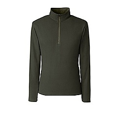 Lands' End - Green tall textured thermacheck-100 fleece half-zip pullover