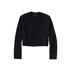 Lands' End - Black supima; three quarter sleeve bolero