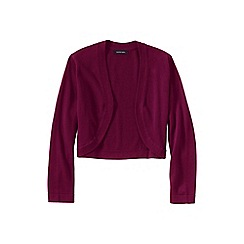 Lands' End - Red women's supima; three quarter sleeve bolero