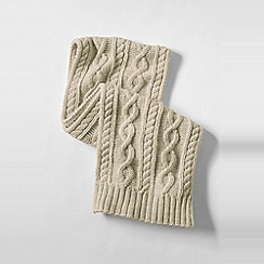 Lands' End - Beige kids' chunky cable knit scarf