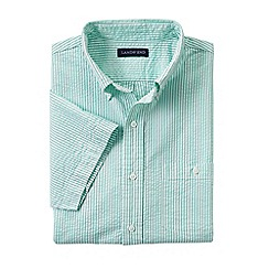 Lands' End - Green tall short sleeve seersucker shirt
