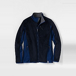 Lands' End - Blue high pile fleece jacket