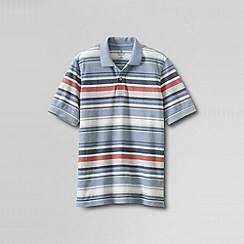 Lands' End - Multi men's original short sleeve pique multi stripe polo shirt