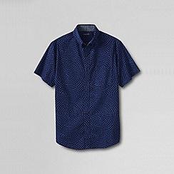 Lands' End - Blue men's short sleeve madras traditional print