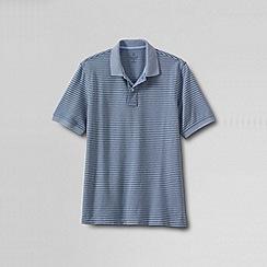 Lands' End - Multi men's original short sleeve pique oxford stripe polo shirt