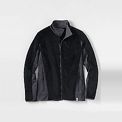 Lands' End - Black men's high pile fleece jacket