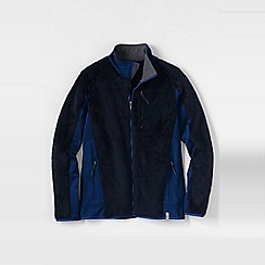 Lands' End - Blue tall  high pile fleece jacket