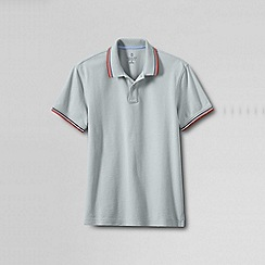 Lands' End - Multi men's regular slim fit polo with tipped/contrast collar