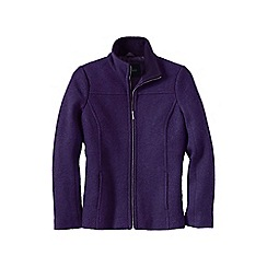 Lands' End - Purple women's boiled wool jacket