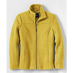 Lands' End - Gold women's boiled wool jacket