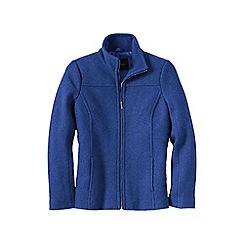 Lands' End - Blue petite boiled wool jacket