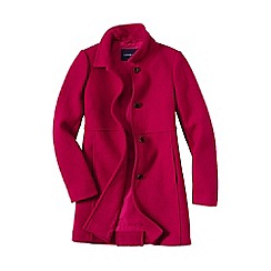 Lands' End - Red women's boiled wool coat