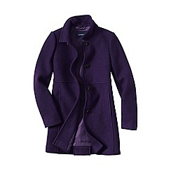 Lands' End - Purple women's boiled wool coat