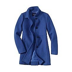 Lands' End - Blue women's boiled wool coat