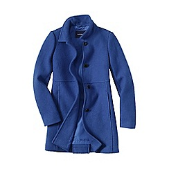 Lands' End - Blue boiled wool coat