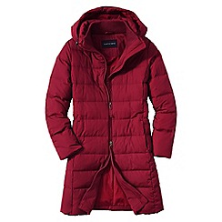 Lands' End - Red women's chalet down coat