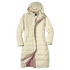 Lands' End - Cream women's chalet down long coat