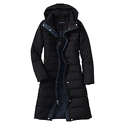 Lands' End - Black chalet down long coat