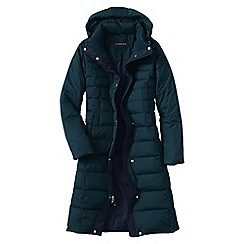 Lands' End - Turquoise chalet down long coat