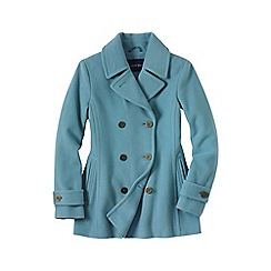 Lands' End - Blue luxe wool pea coat