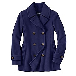 Lands' End - Blue petite luxe wool pea coat