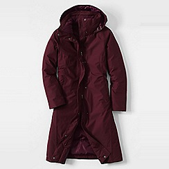 Lands' End - Purple women's plus commuter down long coat