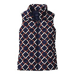 Lands' End - Blue patterned down gilet