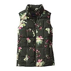 Lands' End - Green women's patterned down gilet