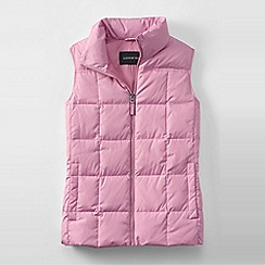 Lands' End - Pink women's plus down gilet