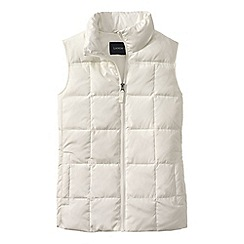 Lands' End - Cream women's plus down gilet