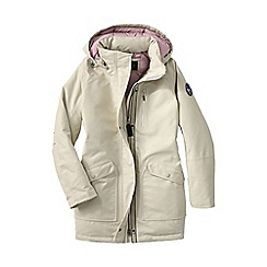 Lands' End - Cream women's expedition down parka