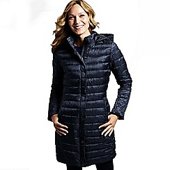 Lands' End - Blue women's printed lightweight down packable coat