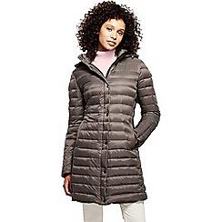 Lands' End - Grey women's lightweight down packable coat